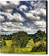 Australian Countryside - Floating Clouds Collage Canvas Print by Kaye Menner