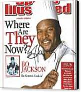 Autographed Sports Illustrated Cover By Bo Jackson Bo Knows Cookin' Canvas Print by Desiderata Gallery