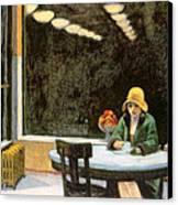Automat Canvas Print by Edward Hopper