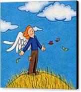 Autumn Angel Canvas Print by Sarah Batalka