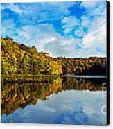 Autumn At Sailboat Cove Canvas Print