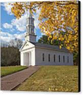 Autumn At The Chapel Canvas Print by Gordon  Grimwade