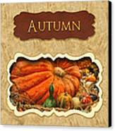 Autumn Button Canvas Print by Mike Savad