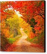 Autumn Cameo Road Canvas Print
