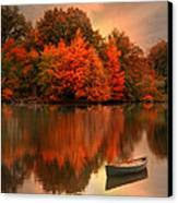 Autumn Canoe Canvas Print by Robin-Lee Vieira