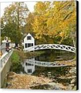 Autumn Colors At Somesville Bridge Mount Desert Island Maine Canvas Print