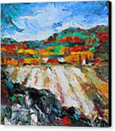 Autumn Field Canvas Print by Becky Kim