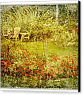 Autumn Garden Canvas Print by Dianne  Lacourciere