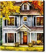 Autumn - House - Cottage  Canvas Print by Mike Savad