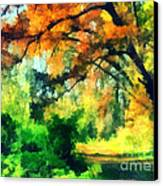 Autumn In The Woods Canvas Print by Odon Czintos