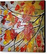 Autumn Leaves Canvas Print by Elena  Constantinescu