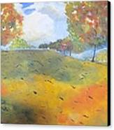 Autumn Leaves Panel 2 Of 2 Canvas Print