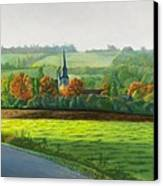 Autumn Morning At St Ulphace Canvas Print