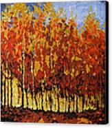 Autumn Palette Canvas Print by Vickie Warner
