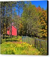 Autumn Red Barn Canvas Print by Joann Vitali