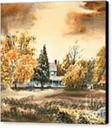 Autumn Sky No W103 Canvas Print