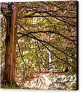 Autumnal Colors In The Summer Time. De Haar Castle Park Canvas Print