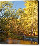 Autumn's Golden Pond Canvas Print by Kim Hojnacki