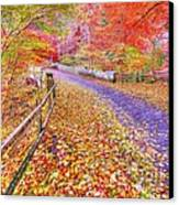Autumns Way Rouge Canvas Print by John Kelly
