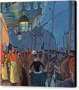 Avenue De Clichy Paris Canvas Print by Louis Anquetin
