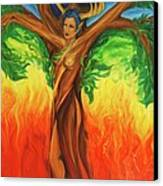 Awakening The Chakra Tree Canvas Print