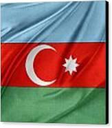 Azerbaijan Flag Canvas Print by Les Cunliffe
