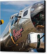 B-17 Flying Fortress Canvas Print by Adam Romanowicz