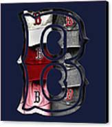 B For Bosox - Boston Red Sox Canvas Print by Joann Vitali