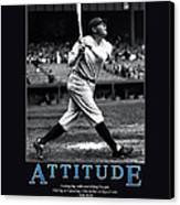 Babe Ruth Attitude  Canvas Print by Retro Images Archive