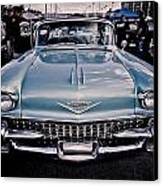 Baby Blue Cadillac Canvas Print by Merrick Imagery