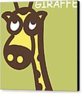 Baby Giraffe Nursery Wall Art Canvas Print by Nursery Art