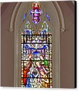 Baby Jesus Stained Glass Window Canvas Print