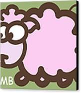 Baby Lamb Nursery Art Canvas Print by Nursery Art
