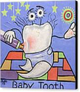 Baby Tooth Canvas Print by Anthony Falbo