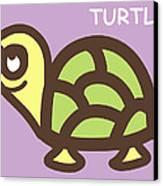 Baby Turtle Nursery Wall Art Canvas Print