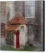 Back Door To The Castle Canvas Print by Susan Candelario