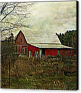 Back Road Barns  Canvas Print by Dianne  Lacourciere