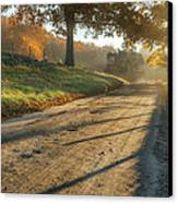 Back Road Morning Canvas Print by Bill Wakeley