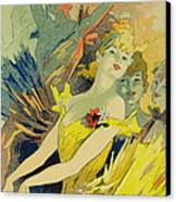Back-stage At The Opera Canvas Print by Jules Cheret
