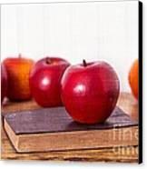 Back To School Apples Canvas Print by Edward Fielding