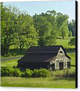 Backroads Barn Canvas Print by Robert J Andler
