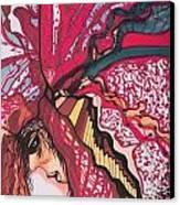Backsliding Canvas Print by Adrianne  Jezin