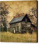 Backwoods Cabin Canvas Print by Steve McKinzie