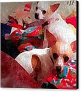 Bad Dogs Canvas Print by Denisse Del Mar Guevara