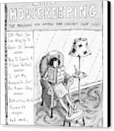Bad Housekeeping The Magazine For Women  Who Canvas Print