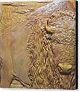 Badlands Bull Canvas Print