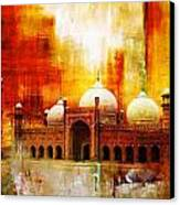Badshahi Mosque Or The Royal Mosque Canvas Print