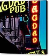 Bagdad Pub Canvas Print by Gail Lawnicki