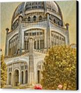 Baha'i  Temple In Wilmette Canvas Print