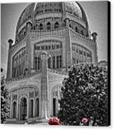 Bahai Temple Wilmette In Black And White Canvas Print